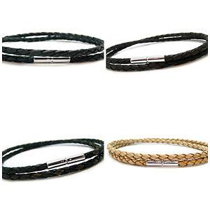 【送料無料】メンズブレスレット メンズブレスレットスターリングシルバークラスプダブルラップmens leather bracelet braided double wrap with 925 sterling silver clasp