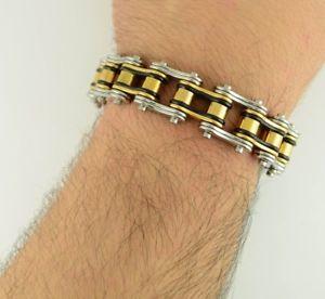 【送料無料】メンズブレスレット バイクチェーンブレスレットステンレス3492012bike brothers sons rider chain bracelet stainless steel 34 wide 9 length 2012