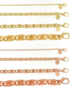 【送料無料】メンズブレスレット ブレスレットsrosegoldダブルジュエリーitalybracelet scurb chain gold or rosegold plated or doubl women men jewelry italy