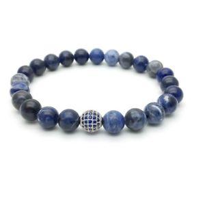 【送料無料】メンズブレスレット ブレスレットジルコンsolidatebead bracelet paved with zircon and solidate man woman