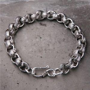 【送料無料】メンズブレスレット ソリッドスターリングシルバーメンズチェーンブレスレットインチsolid 925 sterling silver hallmarked heavy mens chain bracelet 21cm 826 inches
