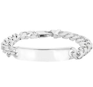 【送料無料】メンズブレスレット スターリングシルバーソリッドメンズブレスレット925 sterling silver solid personalised gents bombe curb mens id bracelet 5850gr