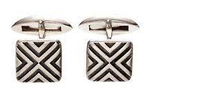【送料無料】メンズブレスレット フレッドベネットシルバーカフリンクススターリングシルバーリニアカフスボタンfred bennett 925 silver cufflinks sterling silver oxidised linear cufflinks v536