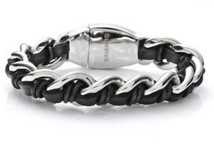 【送料無料】メンズブレスレット メンズブレスレットステンレススチールsurvive mens bracelet 824261 stainless steel, leather