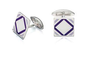【送料無料】メンズブレスレット フレッドベネットシルバーカフスボタンエポキシシルバーカフスボタンfred bennett 925 silver cufflinks square purple epoxy silver cufflinks v500