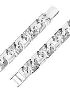 【送料無料】メンズブレスレット スターリングシルバーブレスレットグラム925 sterling silver gentsmen bracelet 20cm, 48 grams