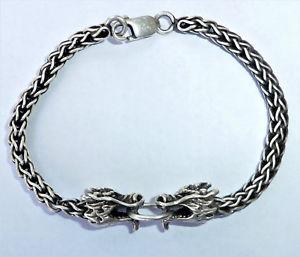 【送料無料】メンズブレスレット スターリングシルバードラゴンブレスレットmens sterling silver dragon bracelet, 9