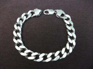 【送料無料】メンズブレスレット ルマンソリッドスターリングシルバーブレスレットオプトインバーミンガムmans solid sterling silver hallmarked curb bracelet645g opt birmingham