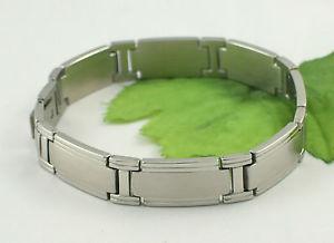 【送料無料】メンズブレスレット ステンレススチールサテンリンクブレスレットbr1017 gents stainless steel satin amp; polished link bracelet