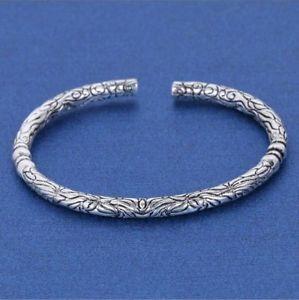 【送料無料】メンズブレスレット スターリングシルバーファッションオープニングブレスレット925 sterling silver,distinguished fashion men women with the opening bracelet