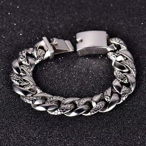 【送料無料】メンズブレスレット シルバーステンレススチールヘビースネークスキンテクスチャブレスレットチェーンmodou silver stainless steel heavy snake skin texture curb bracelet chain 906
