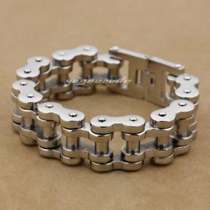 【送料無料】メンズブレスレット モーターバイクチェーンmens 316ポンドステンレスブレスレット5k002chuge motorbike chain mens 316l stainless steel biker bracelet 5k002c