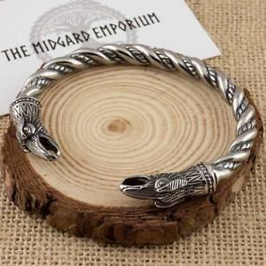【送料無料】メンズブレスレット バイキングオーディンワタリガラスブレスレットステンレスノルウェーviking odins ravens bracelet stainless steel norse arm ring
