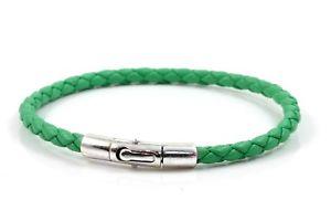 【送料無料】メンズブレスレット ナッパレザーアンプジェイドグリーンbraided nappa leather amp; sterling silver braceletgenuine jade green leather