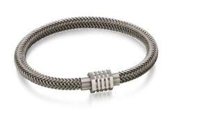 【送料無料】メンズブレスレット listingfredベネットブレスレットステンレスグレーブレスレットb5054 listingfred bennett bracelet stainless steel grey steel woven bracelet b5054