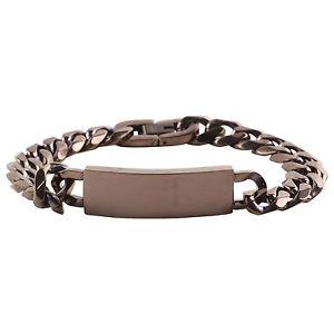 【送料無料】メンズブレスレット メンズアイデンティティリンクブレスレットスチールプレートcopper finish mens identity curb link bracelet ssteel engravable id plate