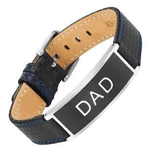 【送料無料】メンズブレスレット ウィリスジャッドdadレザーステンレスブレスレットwillis judd dad leather stainless steel carbon fiber bracelet love you dad