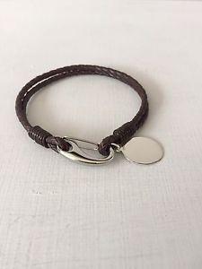 【送料無料】メンズブレスレット メンズレザーブレスレットスターリングシルバーペンダントサービスmens leather bracelet amp; choice of 925 sterling silver pendant free engraving