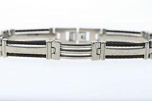 【送料無料】メンズブレスレット チタンブレスレットケーブルアクセントtitanium bracelet with copper cable accents