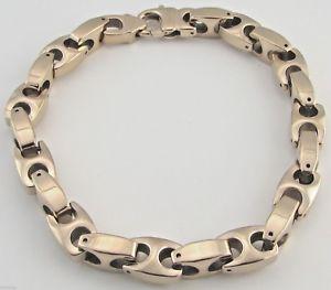 【送料無料】メンズブレスレット バイカータングステンカーバイドローズゴールドブレスレット95 mm heavy biker tungsten carbide rose gold bracelet 002 free samp;h