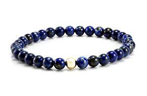【送料無料】メンズブレスレット メンズビードラピスゴールドビーズストレッチブレスレットmens bead braceletblue lapis gemstone amp; 9ct gold bead stretch bracelet