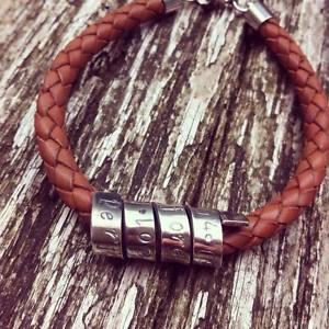 【送料無料】メンズブレスレット ブレスレットメンズレザーブレスレットmens personalized leather bracelet ~ dad gift mens leather bracelet