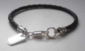 【送料無料】メンズブレスレット メンズブレスレットブラウンスターリングシルバータグクラスプmens bracelet brown braided leather sterling silver dog tag charm amp; clasp gift