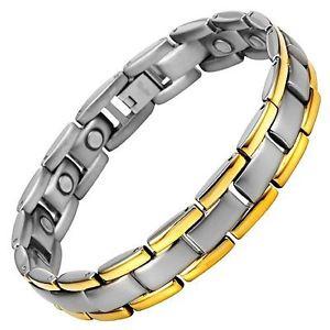 【送料無料】メンズブレスレット ウィリスジャッドメンズチタンブレスレットフリーアジャスタボックスwillis judd mens titanium magnetic bracelet free adjuster gift box