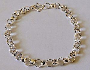 【送料無料】メンズブレスレット スターリングシルバープレーンチェーンブレスレット925 sterling silver plain chain bracelet length 20 cm