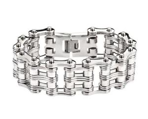 【送料無料】メンズブレスレット unique double link design 9stainless steel bike chainbracelet heavy metalunique double link design 9 stainless steel bike