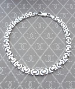 【送料無料】メンズブレスレット メンズソリッドスターリングシルバービザンチンブレスレットmen's solid sterling silver 6mm byzantine bracelet 875″