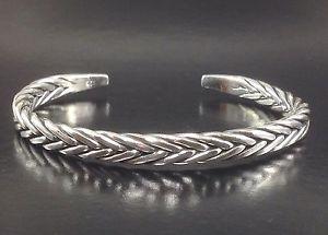 【送料無料】メンズブレスレット スタイリッシュチェーンリンクスターリングシルバーメンズカフブレスレットstylish wheat chain link sterling silver 925 mens open cuff jewelry bracelet