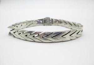 【送料無料】メンズブレスレット メンズグラムソリッドスターリングシルバータスコチェーンリンクブレスレットmens 46 gram solid sterling silver taxco chain link bracelet