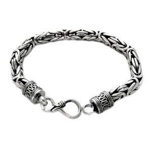 【送料無料】メンズブレスレット レディースタイソリッドシルバーブレスレットヘビー ladies 75 genuine 3mm thai solid silver bracelet x heavy 14g stamped 925