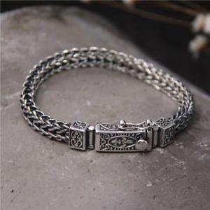 【送料無料】メンズブレスレット ソリッドスターリングシルバーメンズチェーンクラスプブレスレットsolid 925 sterling silver hallmarked mens chain clasp bracelet 19cm