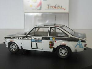 【送料無料】模型車 スポーツカー trofeu1014ford escort mk ii1rac1975143tメキネンtrofeu, 1014, ford escort mk ii, 1st rac rally 1975, 143 scale, t makinen
