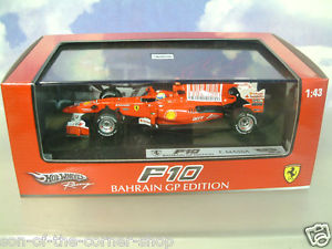 【送料無料】模型車 スポーツカー hot wheels racing 143 ferrari f107 felipemassa 2nd bahrain 2010gp t6290hot wheels racing 143 ferrari f10 7 felipe massa 2n