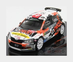 【送料無料】模型車 スポーツカー シュコダファビア#ラリーモンテカルロネットワークラムskoda fabia r5 wrc2 72 rally montecarlo 2018 oburri alevratti ixo 143 ram667