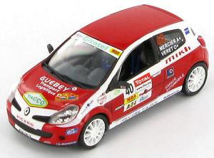 【送料無料】模型車 スポーツカー ルノークリオメルシエラリーrenault clio r3 mercier veret rally charbonnires 2007 143