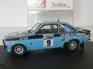 【送料無料】模型車 スポーツカー フォードエスコートラリースケールクラークウィルソンtrofeu, 1017, ford escort mk ii, rac rally 1978, 143 scale, clark wilson