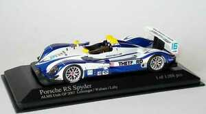 【送料無料】模型車 スポーツカー ポルシェスパイダーユタウォーレスラリー143 porsche rs spyder alms 2007 utah gp thetford 16 leitzinger wallace lally