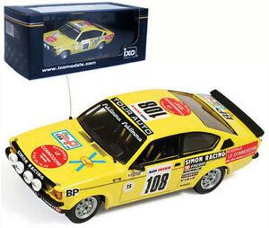 【送料無料】模型車 スポーツカー ネットワークオペルフランススケールixo rac203 opel kadett tour de france 1979 j l clarr 143 scale