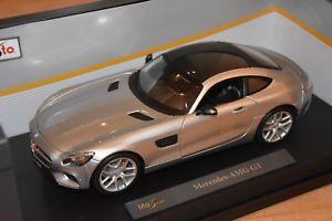 【送料無料】模型車 スポーツカー メルセデスグアテマラプレミアエディション mercedes amg gt, silver, maisto premiere edition, 118, ovp, very nice