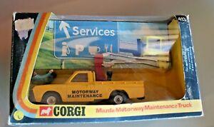【送料無料】模型車 スポーツカー コルギ143mazdaサービストラック413 75オリジナル