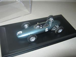 【送料無料】模型車 スポーツカー ショーケースモナコグランプリ143 brm p57 g hill monaco gp winner 1963 handbuilt car in showcase top