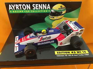 【送料無料】模型車 スポーツカー チームハートターボ#セナ143 toleman team tg183b hart turbo 19 a senna 1984