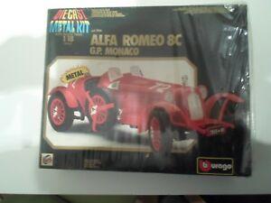 【送料無料】模型車 スポーツカー bburagoキット118アルファロメオ8cgpモナコbburago kit 118 alfa romeo 8c gp monaco rarity see pictures