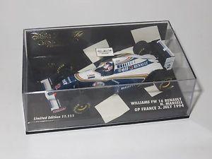 【送料無料】模型車 スポーツカー ウィリアムズルノーフランスグランプリナイジェルマンセル143 williams renault fw16  french grand prix 1994 nigel mansell