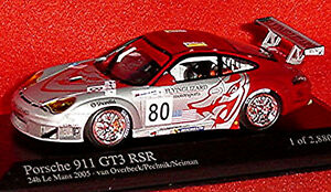 【送料無料】模型車 スポーツカー ポルシェルマン#ファンオーバービークporsche 911 gt3 rsr 24h lemans 2005 80 van overbeek pechnik neiman 143 min