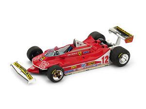 【送料無料】模型車 スポーツカー フェラーリフランスジルヴィルヌーヴサーキット#モデルferrari 312 t4 gp france 1979 gilles villeneuve 12 143 2012 model r512 brumm